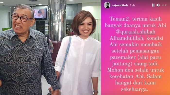 Najwa Shihab ungkap kondisi Quraish Shihab setelah operasi jantung.