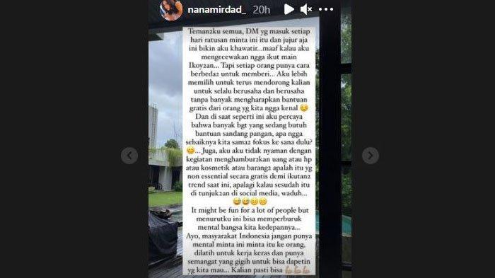 Nana Mirdad kritik tren 'Ikoy-ikoyan' yang dinilai memperburuk mental bangsa
