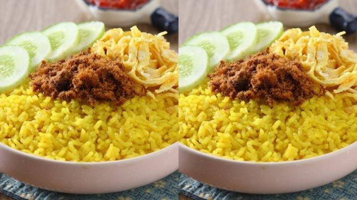 RESEP dan Cara Memasak Nasi Kuning Lezat di Rumah, Tambah Abon, Telur, Tepong dan Komplit