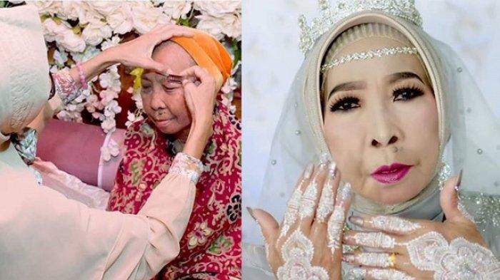 Nenek Perawan Menikah di Usia 56 Tahun, MUA Sukses Membuatnya Jadi Pengantin Cantik hingga Viral