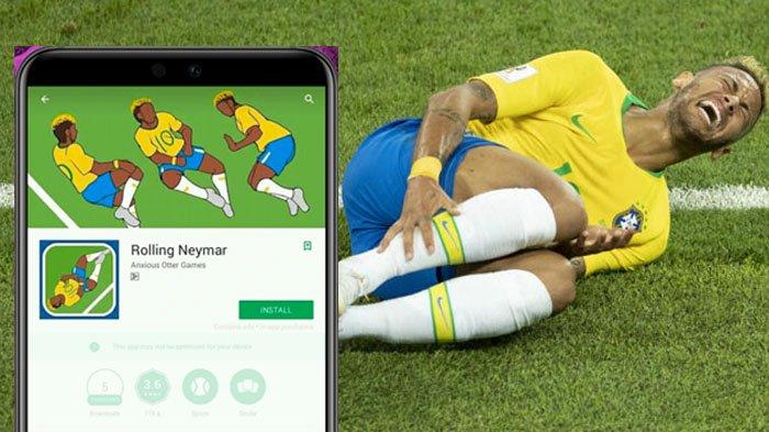 Aksi Terjatuh dan Berguling Neymar Dijadikan Game Smartphone, Mainnya Kocak Abis!
