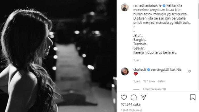 Nia Ramadhani tulis kalimat bijak setelah viral aksinya jadi host bareng Raffi Ahmad