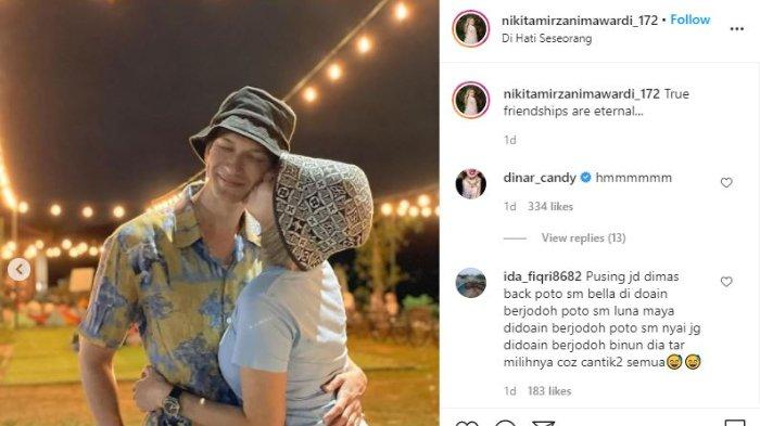 Nikita Mirzani cium pipi Dimas Beck.