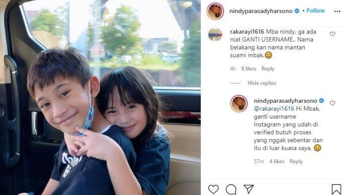 Nindy Ayunda beberkan alasan masih menggunakan nama belakang Askara di Instagramnya meski sudah cerai.