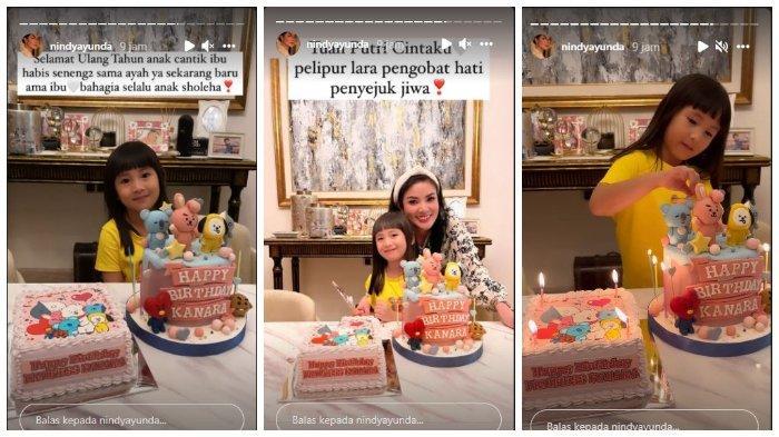 Nindy Ayunda rayakan ulang tahun Kanara.