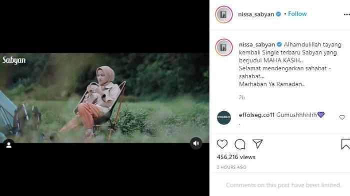 Nissa Sabyan bersama Sabyan Gambus rilis lagu baru jelang ramadan.