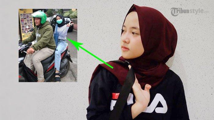 Naik Ojek Online, Gaya Nissa Sabyan Jadi Sorotan 'Kapan Lagi Naik Motor Merem'