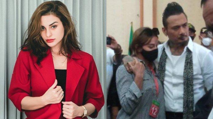 Nora Alexandra dan Jerinx SID seusai menjalani sidang vonis di PN Denpasar, Kamis (19/11/2020)