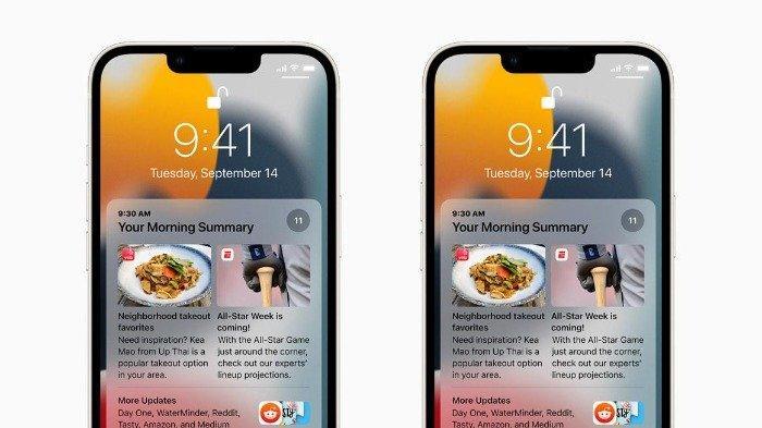 bentuk notifikasi iOS 15