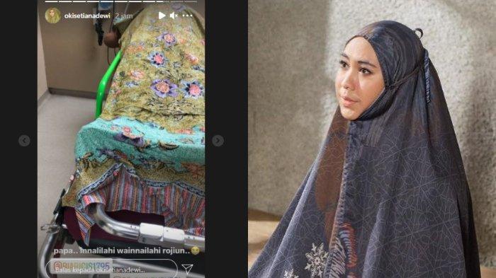 Oki Setiana Dewi berduka atas kepergian sang ayah, Sulyanto (Instagram/okisetianadewi)