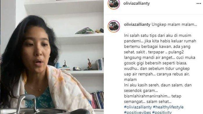 Olivia Zalianty bagikan ritual yang rutin dilakukannya di masa pandemi