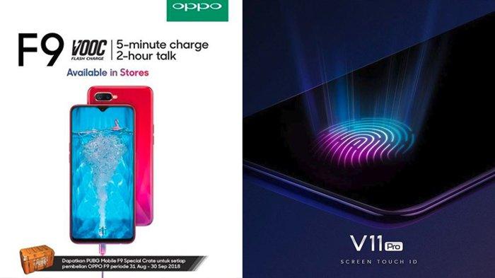 Harga Vivo V11 dan Oppo F9, Spesifikasinya Lebih Bagus Mana?
