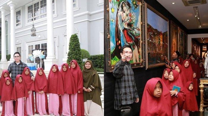 Bos ANTV Otis Hahijary Ajak Anak Panti Tur Keliling Rumahnya, Ini Foto-foto Ekspresi Mereka