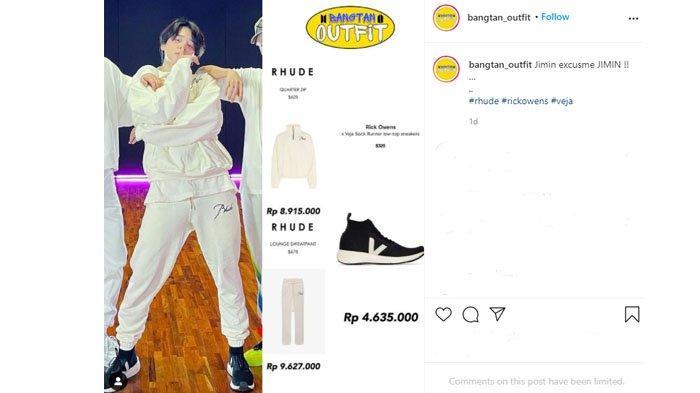 23 Juta 3 Fashion Item, Intip Rincian Outfit Jimin BTS di Dance Butter Bareng Jungkook dan J-Hope