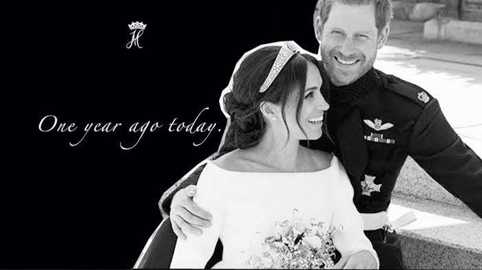 Tepat Setahun Menikah, Pangeran Harry & Meghan Markle Unggah Foto Behind The Scene Pernikahan