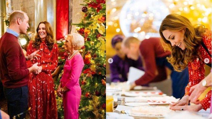 Pangeran William dan Kate Middleton di program acara Mary Berry