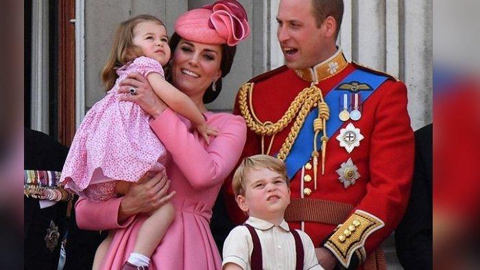 Pangeran William, Pangeran George, Kate Middleton dan Putri Charlotte