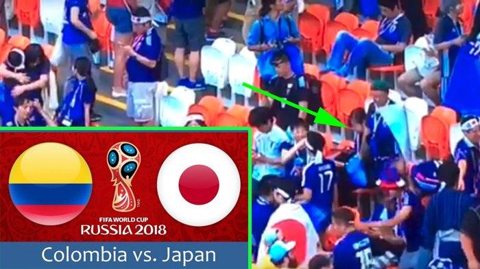 Jepang Menang atas Kolombia, Saat Pertandingan Usai, Diam-diam Suporter Lakukan Hal Tak Terduga!