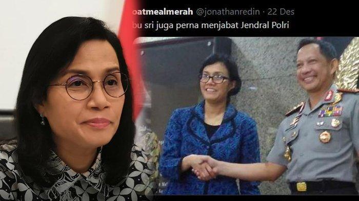 5 Parodi Kocak Jabatan Sri Mulyani, Pernah Menjabat Jenderal Polri, Ternyata Hanya Jabat Tangan