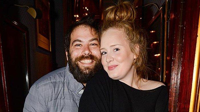 Pasangan Simon Konecki dan Adele.