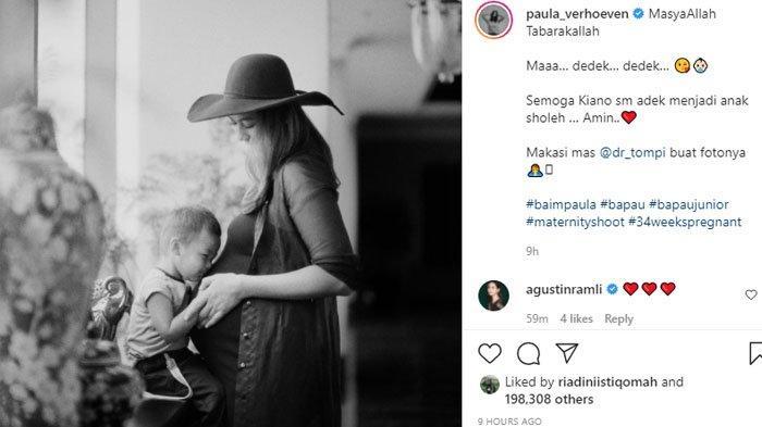 Paula Verhoeven jalani maternity shoot ditemani oleh putranya, Kiano Tiger Wong