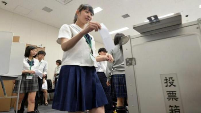 Ilustrasi pelajar di Jepang.