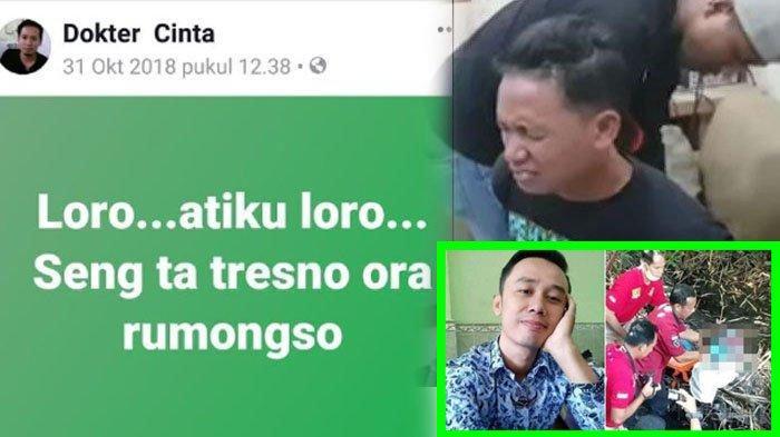 Status Facebook tersangka Aris Susanto di Facebook.