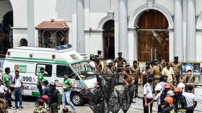 Peledakkan bom bunuh diri di Sri Lanka