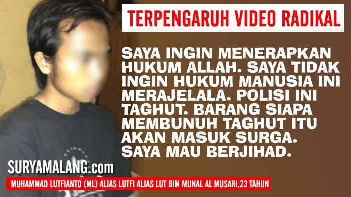 Orangtua Wajib Waspada, Pemuda Ini Bawa Pedang ke Markas Polisi karena Video Radikal di YouTube!