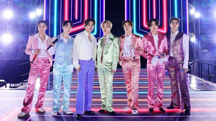 Penampilan BTS di Ama 2020 saat bawakan lagu Dynamite.