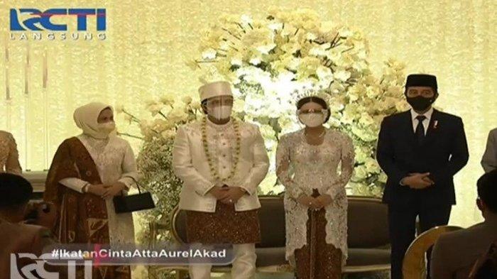 Anggunnya Iriana saat Dampingi Jokowi di Pernikahan Aurel dan Atta, Pakai Kebaya Bernuansa Putih