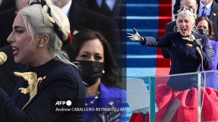 Bagaimana Penampilan Lady Gaga di Pelantikan Joe Biden? Intip Gayanya saat Nyanyi Lagu Kebangsaan