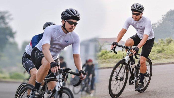 Nicholas Saputra Bersepeda Roadbike Jadi Sorotan, Pakai Helm dan Kacamata Hitam, Gak Ada Obat