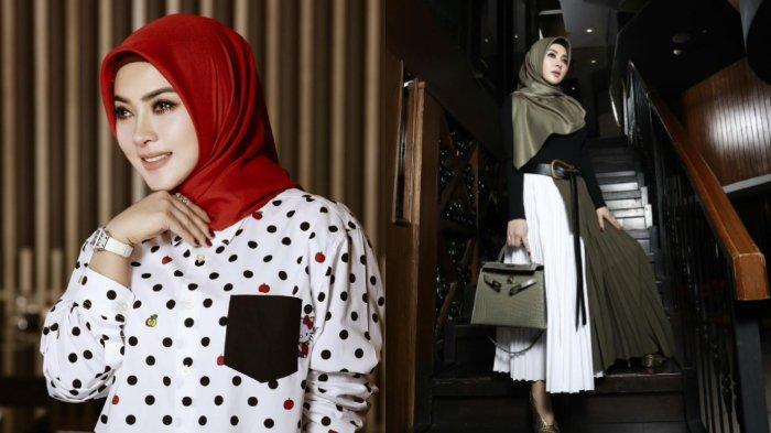 7 Fashion Syahrini Belajar Berhijab, Dulu Penampilan Cetar, Istri Reino Barack Kini Cantik Elegan