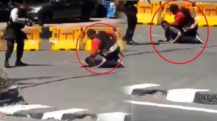 BREAKING NEWS - Beredar Video Penangkapan Terduga Teroris Oleh Densus 88 di Jembatan Merah Surabaya!