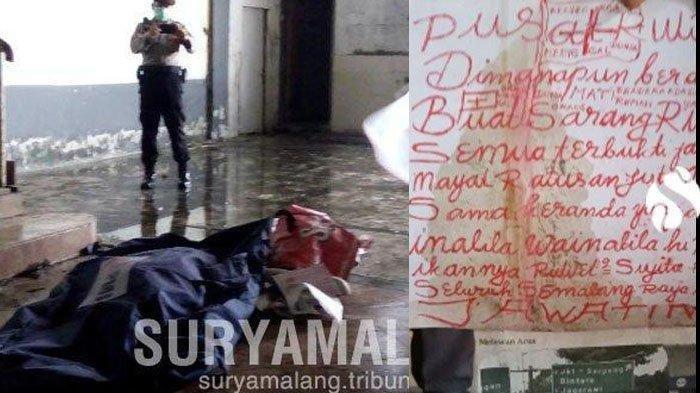 Mayat seorang wanita yang menjadi korban mutilasi ditemukan di Malang, Selasa (14/05/2019)