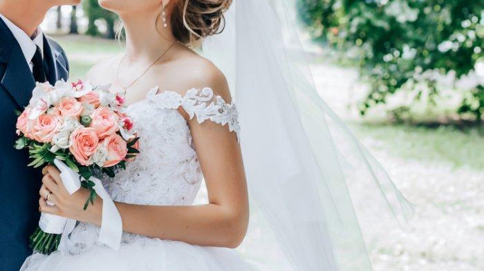 Ilustrasi sepasang pengantin