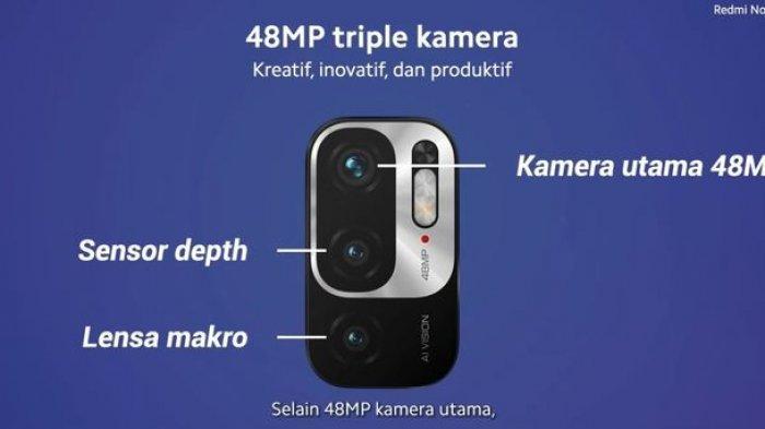 pengaturan tiga kamera Redmi Note 10 5G