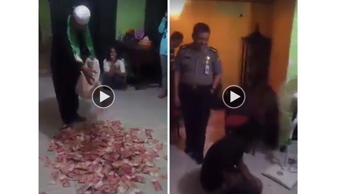 Heboh! Setelah Dimas Kanjeng, Pria Ini Juga Bisa Keluarkan Banyak Uang Di Hadapan Polisi