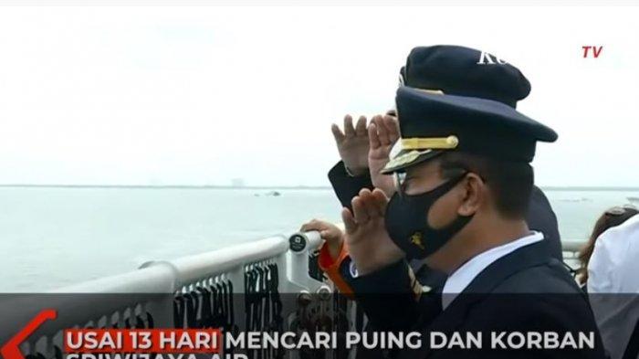 Penghormatan terakhir untuk para korban Sriwijaya Air
