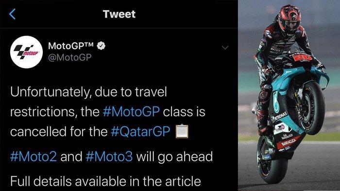 Dampak Virus Corona, Gelaran Seri Baru MotoGP di Qatar Dibatalkan, Fabio Quartararo Kecewa