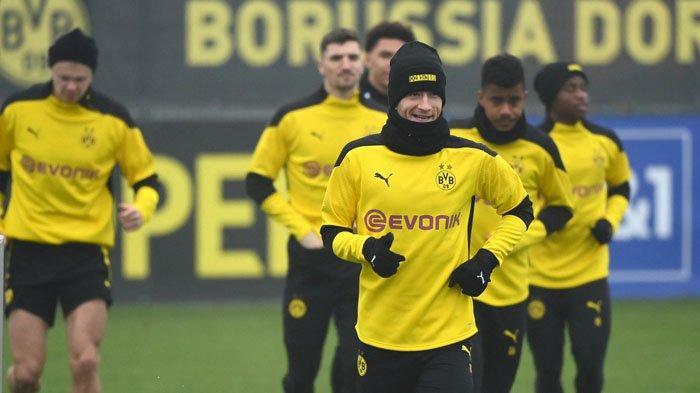 Link Live Streaming Liga Champions Leg Kedua 16 Besar, Dortmund vs Sevilla, Marco Reus Optimis