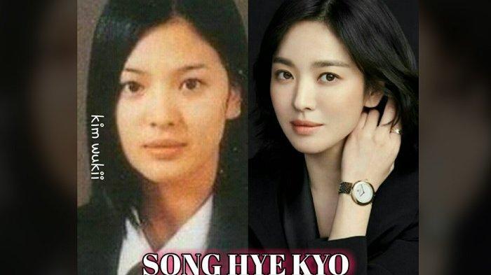 Perbandingan foto Song Hye Kyo