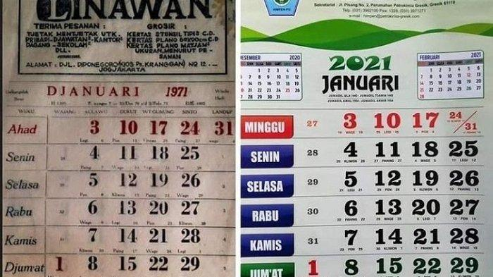 VIRAL FOTO Perbandingan Kalender 1971 yang Kembar dengan Kalender 2021, Misteri Kini Terpecahkan!