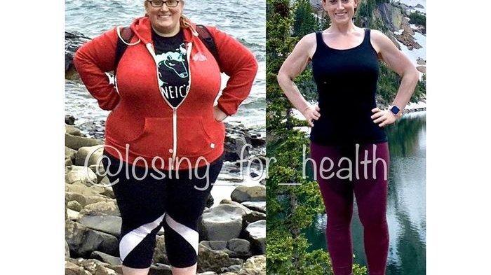SUKSES Turunkan Berat Badan Hingga 80 KG, Wanita Ini Bagi 5 Tips Diet yang Ia Lakukan