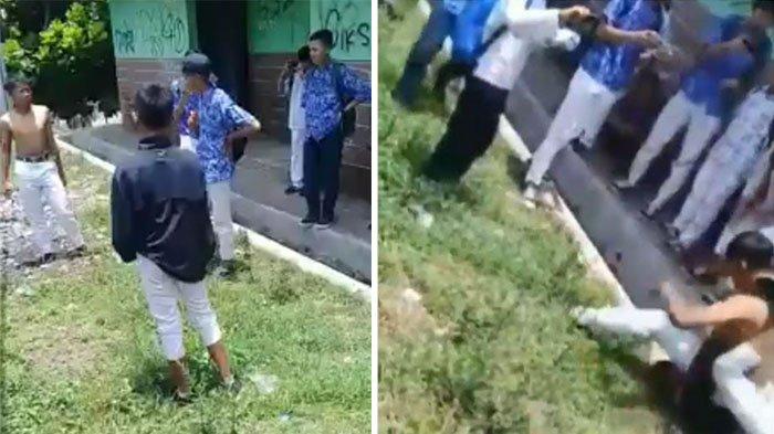 Beredar Video Viral Duel ala Gladiator Dua Siswa SMP, Teman-Temannya Malah Merekam, Netter Geram!