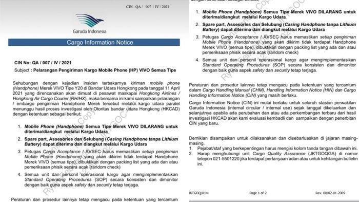 Pernyataan resmi dari pihak Garuda Indonesia.