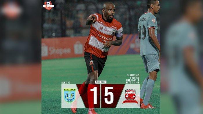 Hasil Akhir Pertandingan Persela vs Madura United Liga 1 2019 Skor Akhir 5-1 Tuan Rumah Keok