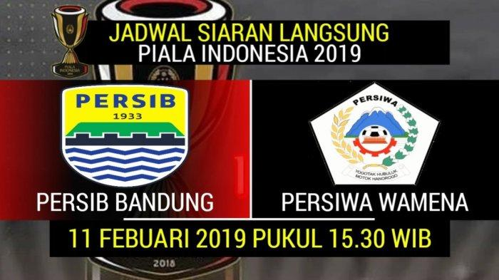 UPDATE HASIL Hasil Persib Bandung vs Persiwa Wamena Babak 2 Piala Indonesia Skor 4-0 Live Streaming