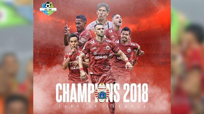 Jadwal Konvoi Juara Liga 1 Musim 2018 Persija Jakarta Berikut Jam dan Rute yang Bakal Dilalui